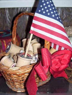 4th of July spool basket.