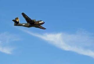 Overhead air show.