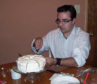Cut the cake.