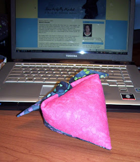 Blogging about my heart pincushion