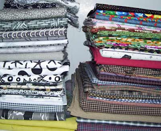Another stack of fabric from my stash.