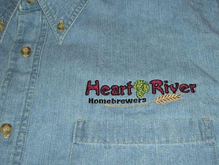 Heart River Homebrewers Logo I digitized for machine embroidery