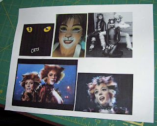 I researched images on-line for my postcards.
