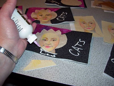 Glue the face into place and trim excess at the bottom.