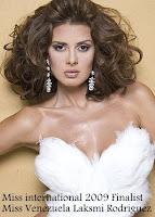 Miss International 2009 Top15 Finalist- Miss Venezuela Laksmi Rodriguez
