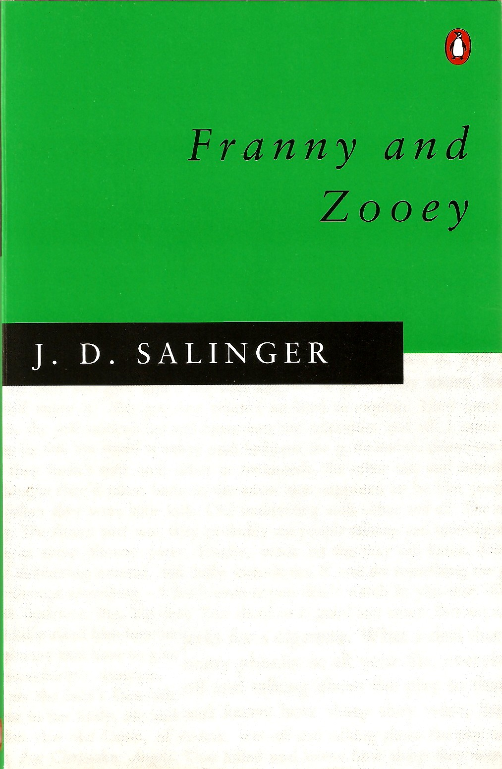 franny and zooey essay ideas This 1999 word essay is about j d salinger, fiction, literature, american literature, the catcher in the rye, franny and zooey, glass family read the full essay now.