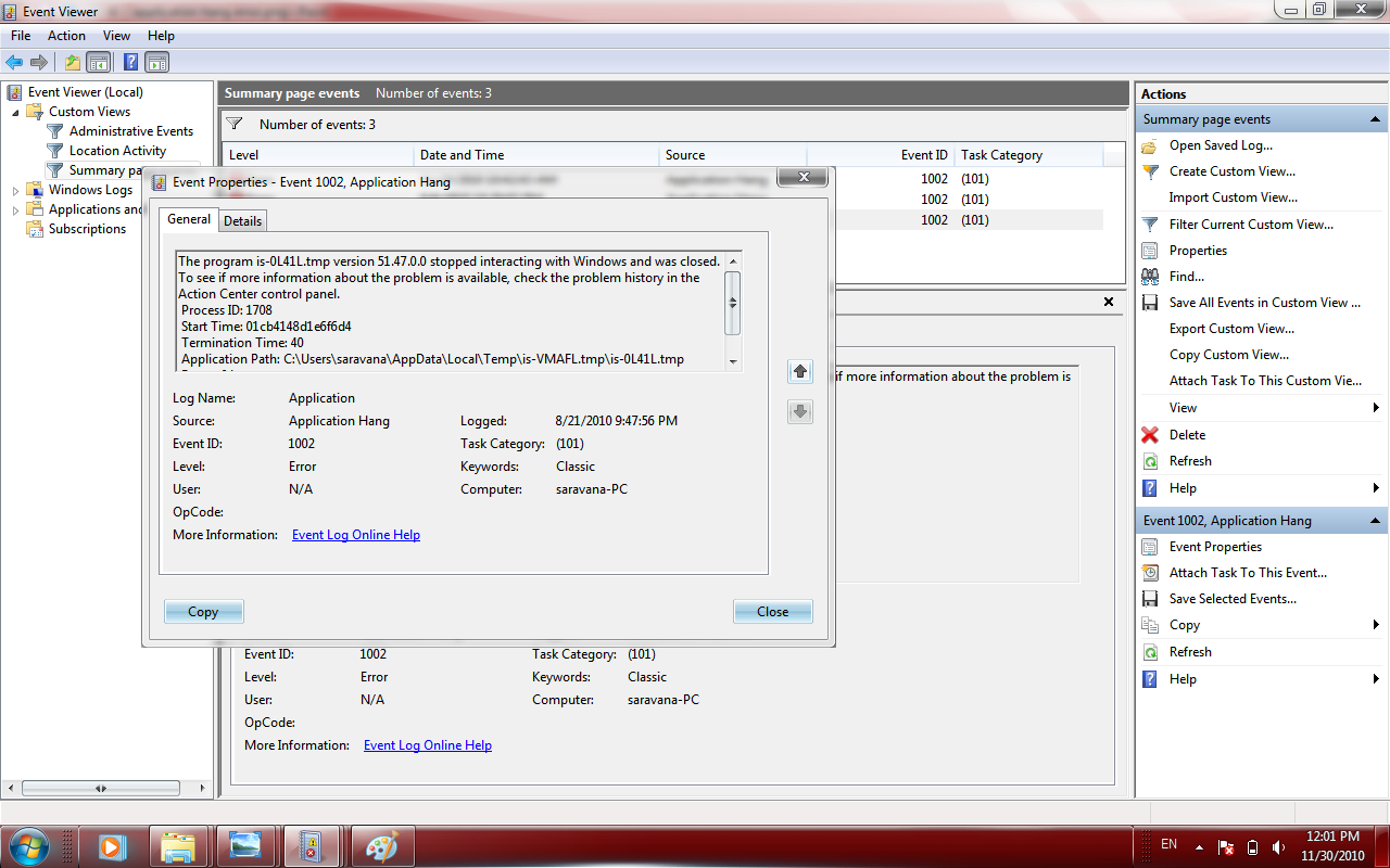control panel explorer.exe application not found