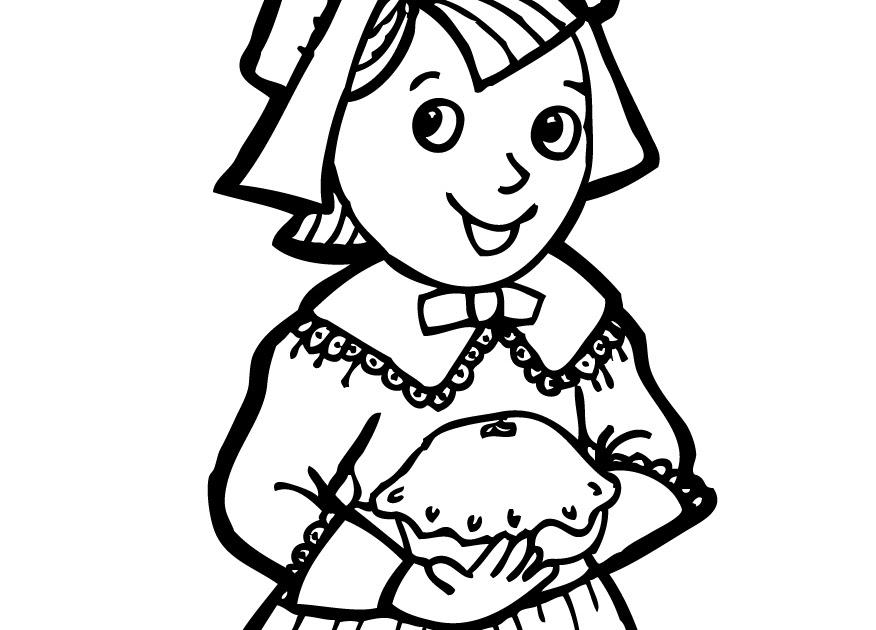 Coloring Page Pilgrim Hat