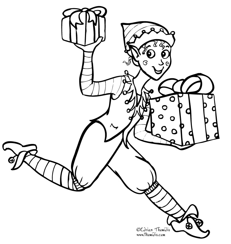coloring pages girl elf - photo#23