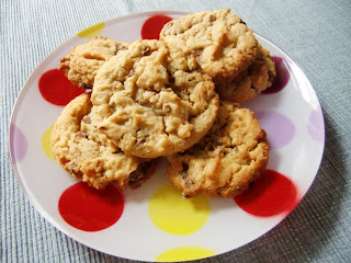 peanut butter chocolate cookies (onemorehandbag)