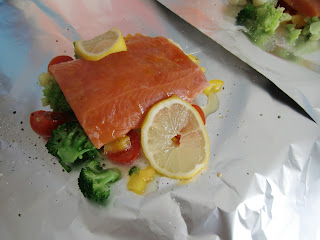 parcel with salmon (onemorehandbag)