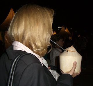 coconut juice: yum! (onemorehandbag)