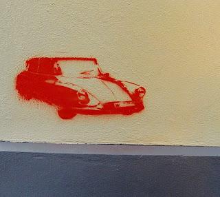 sprayed car (onemorehandbag)