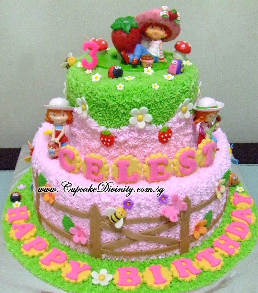 Cupcake Divinity Maxi 2 Tier Strawberry Shortcake Celest Birthday