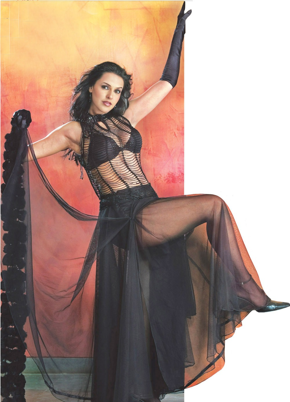 Neha Dhupia hot Pic in Black lingerie1 - Neha Dhupia Hot Pics in Black lingerie