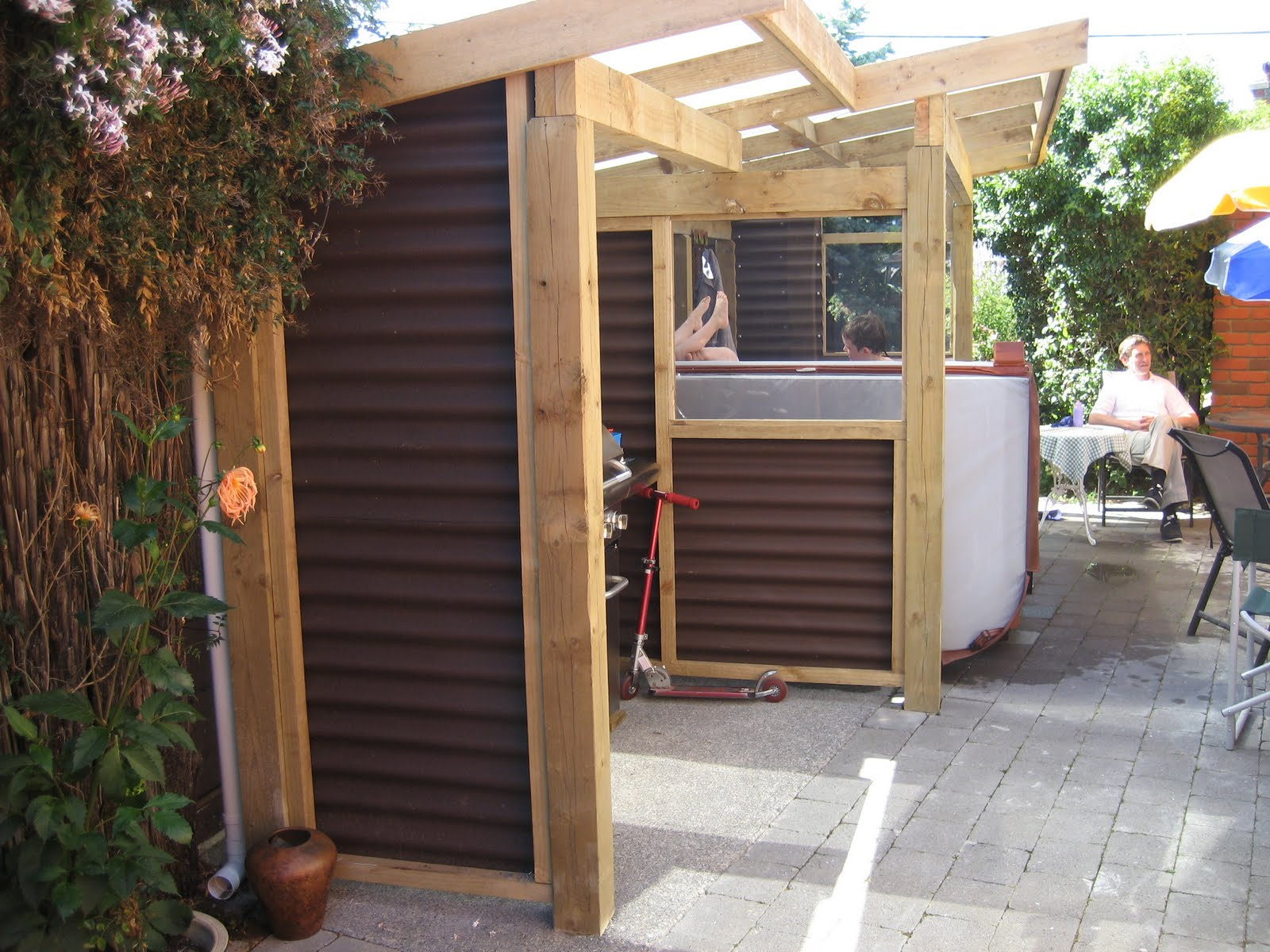 Barbecue Shelter Plans : Architectural draughting services spa bbq shelter