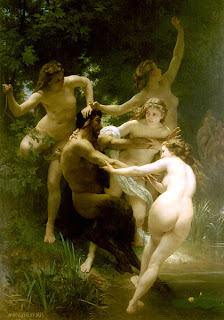 Artist: William-Adolphe Bouguereau, Nymphs and Satyr