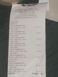 receipt, Toy Kingdom Sale