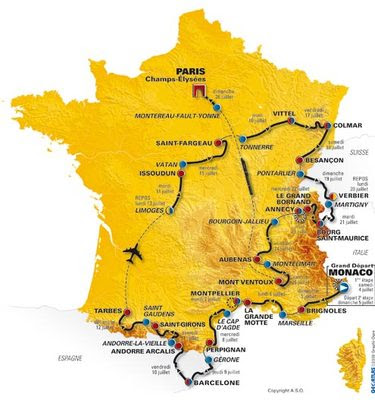tour de france map 2010. hot The 2011 Tour de France