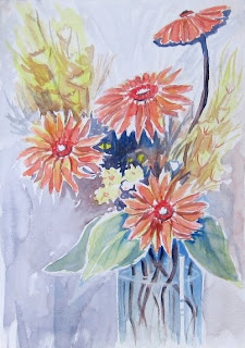 looser flowers in watercolor