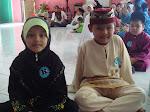 Akmal dan Balqis ketika pertandingan tilawah