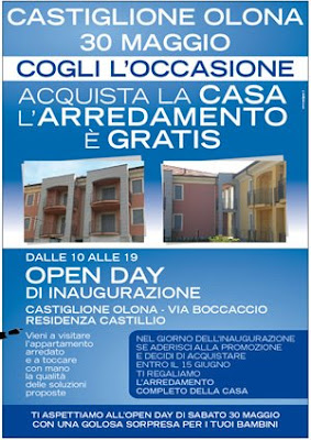 Erif real estate open day castiglione olona in regalo l for Regalo arredamento completo