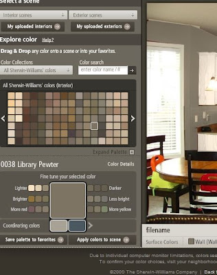 The Dizzy House Testing Paint Colors From Your Computer