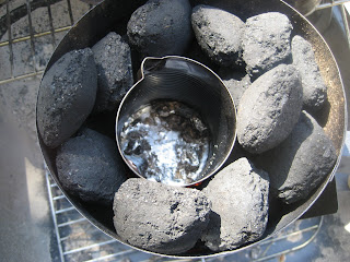 simple casting furnace that uses charcoal