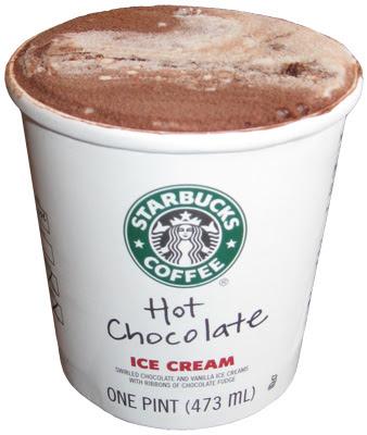 On Second Scoop: Ice Cream Reviews: Starbucks Hot Chocolate Ice Cream