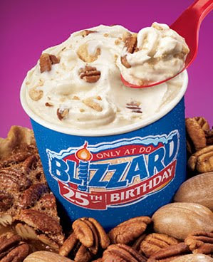 "Pecan Pie blizzard . It's ""packed with roasted pecans, crispy pie ..."