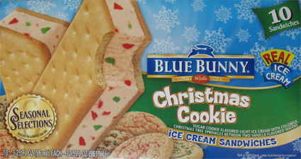 On second scoop ice cream reviews blue bunny season for Christmas cookie blue bell ice cream
