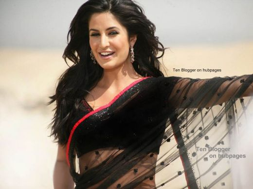 Katrina Kaif Hot Saree collection