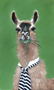 Llama Dressed for Dinner