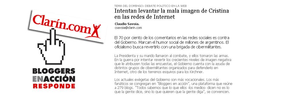 Bloggers en Acción (respuesta a Clarín)
