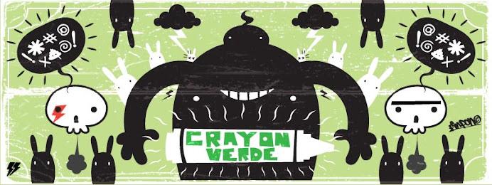 crayon verde