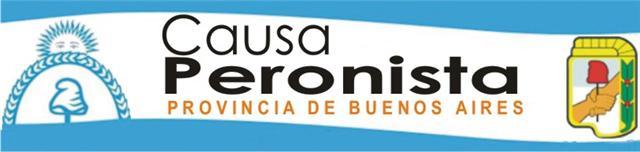 CAUSA PERONISTA PROVINCIA DE BUENOS AIRES