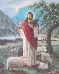 El Buen Pastor que Cuida de sus Ovejas.
