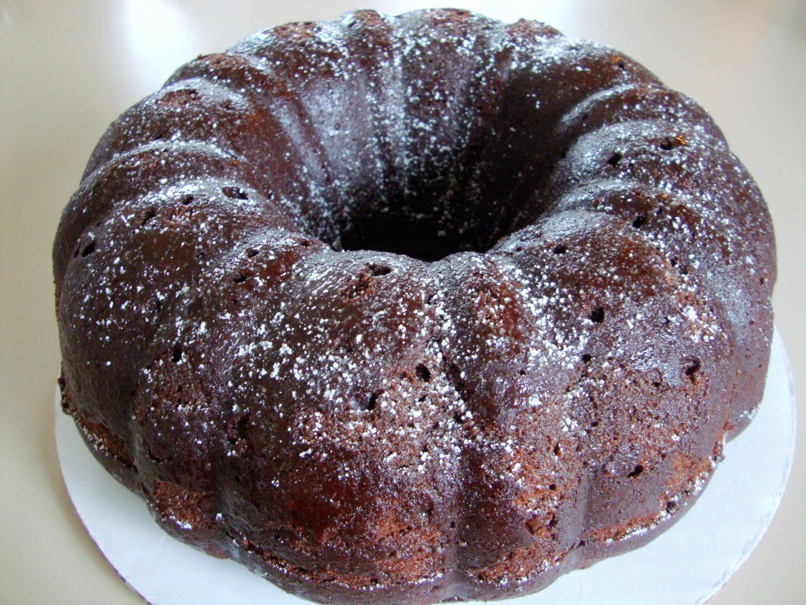 so sour cream chocolate bundt cake is the cake for today in addition ...