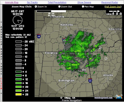 At least it's snowing east of Ellijay, Georgia where I am located.