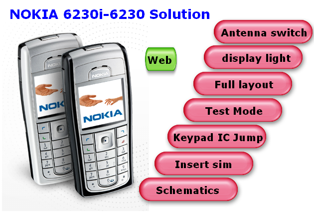 nokia 6230i 6230 antina switch solution nokia 6230i 6230 display light ...