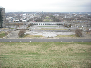 This View Atop The Hill Behind Park Shows WHOLE From Vantage Point You Can See Whole Thing As Laid Out In Picture Of