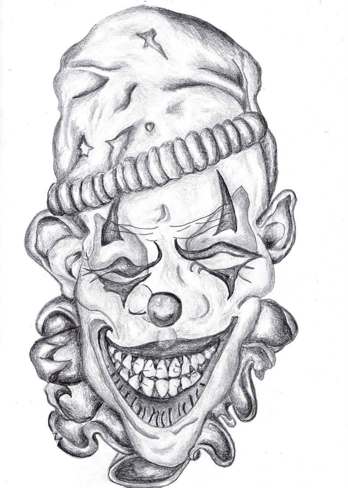 Skull Jester Drawings Viewing Gallery