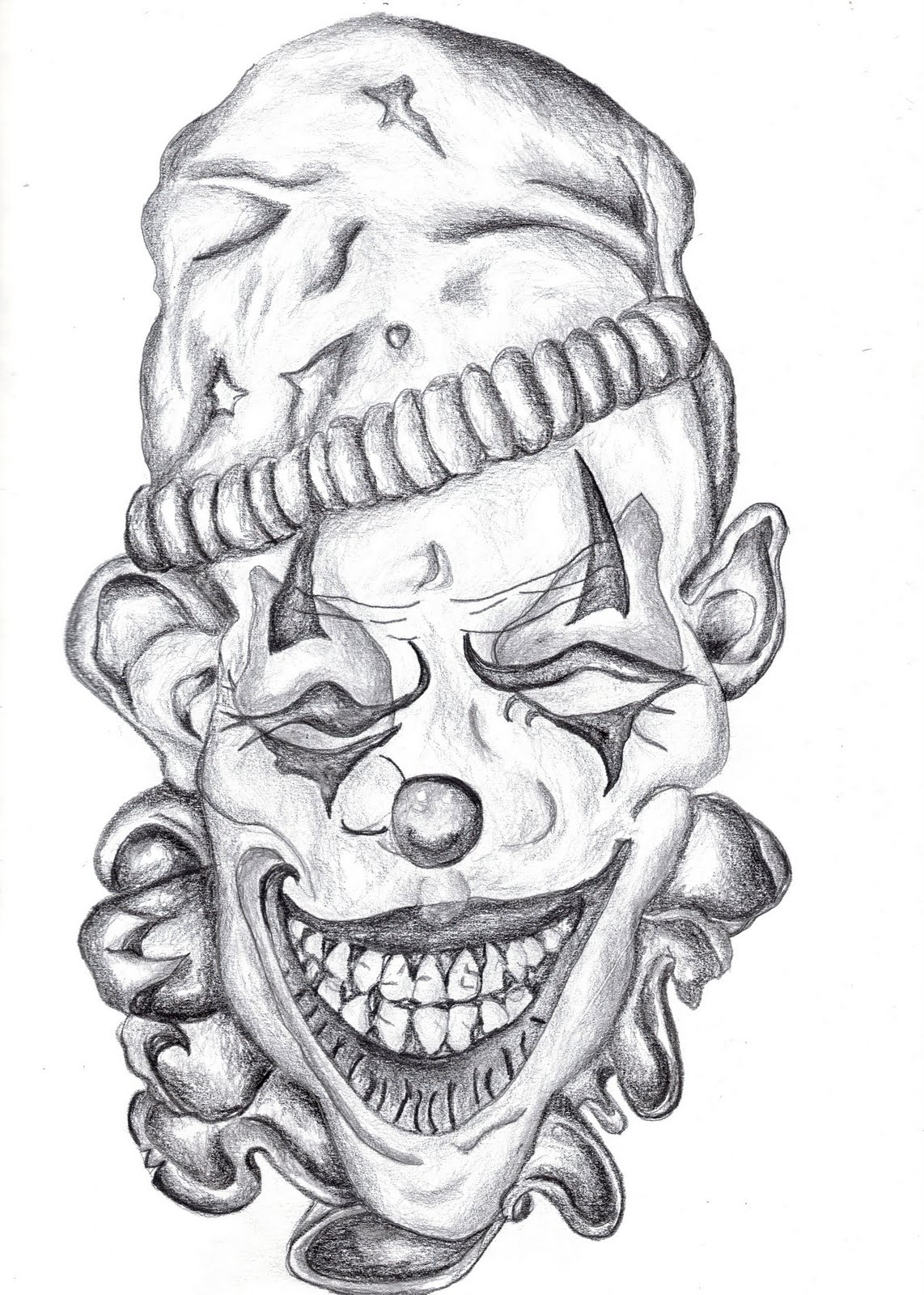 Evil Jester Drawings http://kajolikhanna.blogspot.com/2010/05/chelsea-paintings-drawings.html