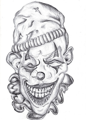 Evil Clown Drawings