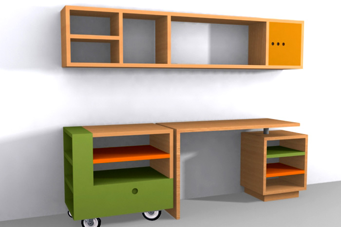 Muebles infantojuveniles muestra proyectos de muebles - Escritorio ninos ...
