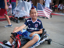 In the Spirit - Ryan with Red, White & Blue Hair