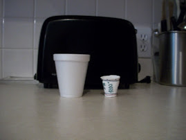 Smallest Size Coffee Cup Next to Compressed Cup