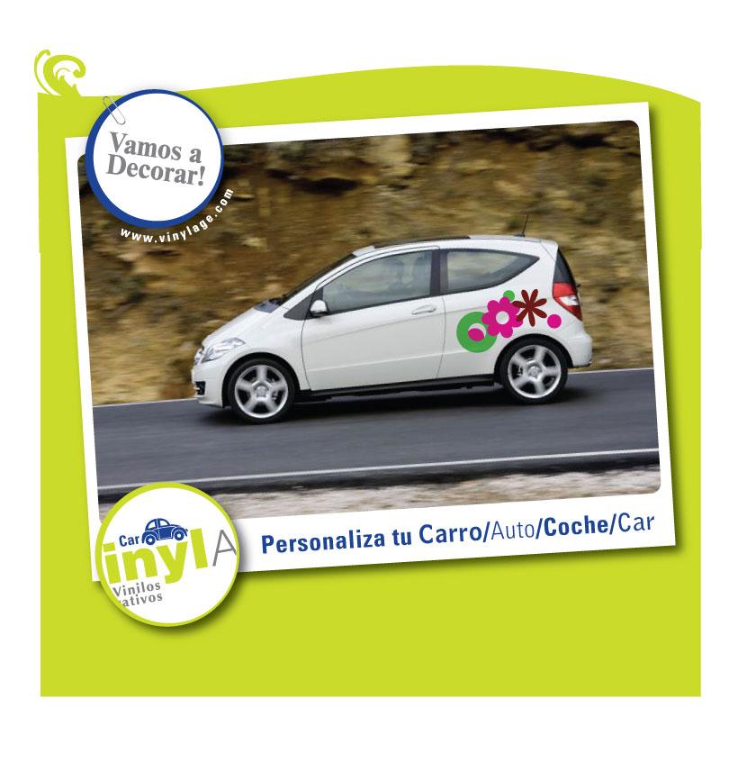 Vinilos decorativos infantiles florales y de adultos for Vinilos para coches