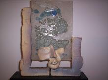 Pranto Azul.Collages escultóricos