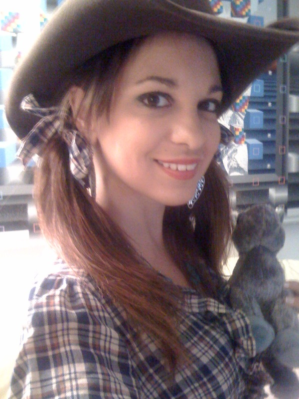 cowgirl makeup. A cowgirl and her horse,